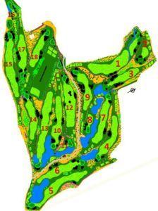 Mijas Golf Los Lagos Mapa Hoyos del Campo