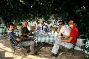 Robert Trent Jones, Don Mateo Perez Robles, Cabell Robinson, Rafael Romero y John Payne