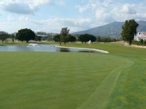 Mijas Golf Los Lagos Green Hoyo 5