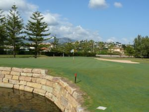 Mijas Golf Los Lagos Green Hoyo 7