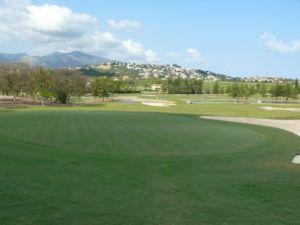 Mijas Golf Los Lagos Green Hoyo 9