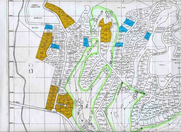 Mijas Golf SA mapa parcelas